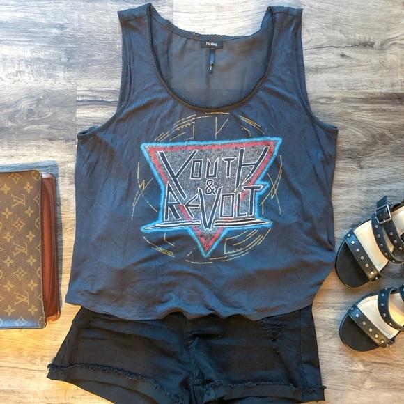 Nollie Tops - Nollie Youth Revolt Rocker Graphic Tee Shirt